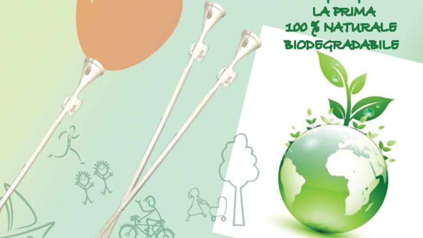 STECCA porta-palloncino 100% BIODEGRADABILE