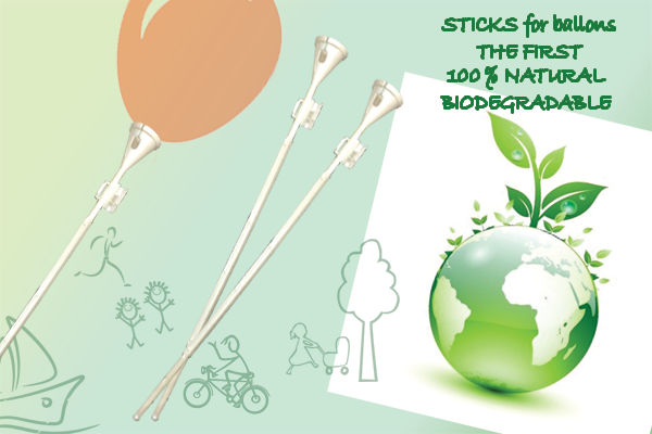 100% BIODEGRADABLE STICK for balloons